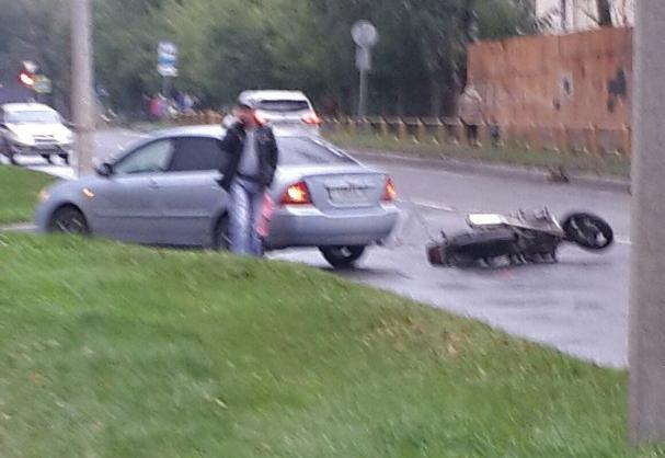В Череповце в Северном районе сбили мотоциклиста