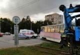 Авария в Череповце: трамвай сошел с рельсов