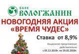 Новогодние подарки от банка «Вологжанин» не заканчиваются